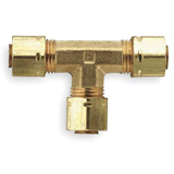 3//16 and 1//8 Forged Brass Parker 171CA-3-2 Compress-Align Compression Fitting Tube to Pipe Compression Run Tee